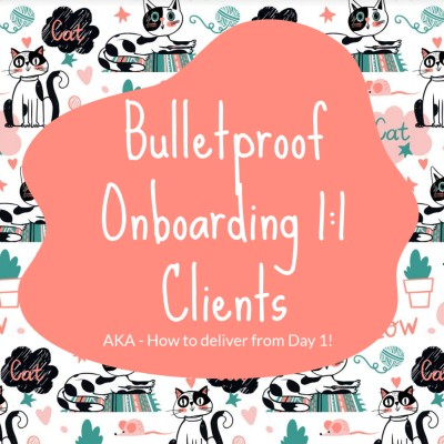 onboarding 1-1 clients